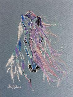 Pastel et charcoal Guylaine Simard