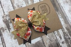 Items similar to Gold Thanksgiving fall Hair Bow , Glittery Thanksgiving Hair Bow, Boutique Hair Bow for Girls , Holiday Glitter Hair Bow on Etsy Girl Hair Bows, Girls Bows, Girls 4, Thanksgiving Hair Bows, Boutique Hair Bows, Glitter Hair, Fall Hair, Gift Wrapping, Unique Jewelry