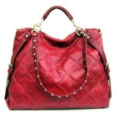 Giovani & Rucci Red Woven Handbag Purse Satchel Carry All Tote Bag