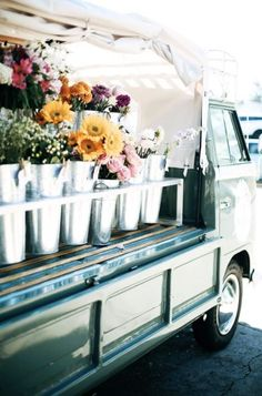 Flower Truck, My Flower, Flower Power, Flower Car, Bloom Baby, Forever Flowers, Spring Photography, Flower Quotes, Pretty Flowers