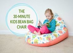 DIY: Sew a Kids Bean Bag Chair in 30 Minutes