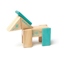 Tegu Rob Building Block Set: Tegu have created a new twist on an old classic by inventing magnetic wooden building blocks. All pieces/sets work together. Meet Robo - This curious little rascal is always getting into mischief. Described by friends as a master of disguise - Robo is a horse one minute, then a spaceship the next! In fact, Robo can be anything you dream up.