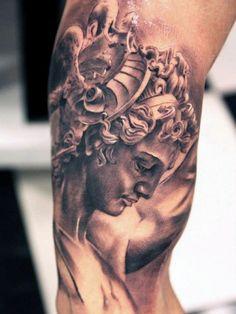 Greek God Of War Tattoo On Man                                                                                                                                                     Más
