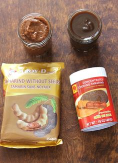 Pad Thai Sauce- Tamarind Paste is a required ingredient in Pad Thai. You know that delicious tangy flavor you love? That is tamarind paste. Don't be scared. It's easy to use. Thai Recipes, Sauce Recipes, Asian Recipes, Vegetarian Recipes, Cooking Recipes, Tamarind Recipes, Thai Stir Fry Sauce, Pad Thai Sauce, Phad Thai