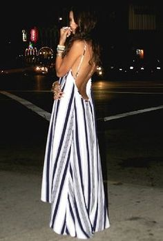 http://www.shopstyle.com: Flynn Skye Scoop Back Maxi Dress in Nautical Navy