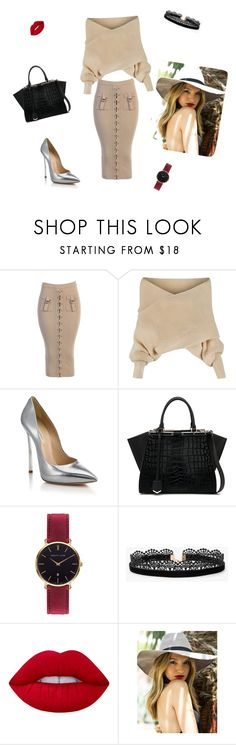 """""""On the Run"""" by ariannadesigns ❤ liked on Polyvore featuring WithChic, Casadei, Fendi, Abbott Lyon, Azalea and Lime Crime"""