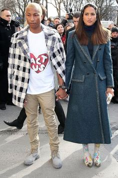 Pharrell & Helen - Paris Fashion Week - 8 mars 2016