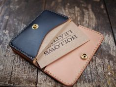 Natural/Navy business card case | Flickr - Photo Sharing!