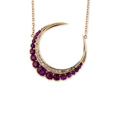 Blood moon. RUBY CRESCENT NECKLACE by Jaquie Aiche