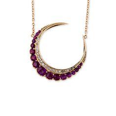 Jacquie Aiche Ruby Crescent Necklace