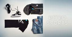 Stylische Retro Outfits gibt es bei uns im Online Shop #Retro #Sportscheck