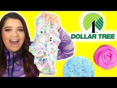 DOLLAR TREE SLIMES RECIPE CHALLENGE! How To Make Fluffy Slime, Pom Pom, Glitter Glue NO BORAX! - YouTube
