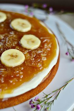 Salted Caramel Coconut Banana Cake #recipe