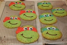 Teenage Mutant Ninja Turtles Party Handmade Cookies