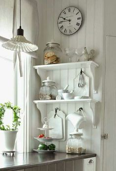 Great Shabby Chic Kitchen Ideas To Get You Started Cocina Shabby Chic, Muebles Shabby Chic, Shabby Chic Kitchen, Farmhouse Kitchen Decor, Home Decor Kitchen, Shabby Chic Decor, Country Kitchen, Vintage Kitchen, Diy Home Decor