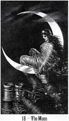 Victoria Regina Tarot ~ The Moon.  This was also a large part of the wedding.  (Blue Moon)