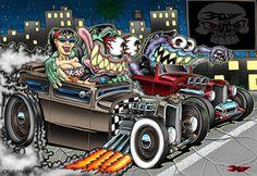 ◆ Visit ~ MACHINE Shop Café ◆ ◆ Illustration Artist's - Pinterest ◆ Hot Rod Drag Race by Britt8m