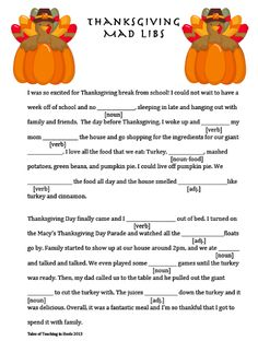 Astounding image intended for thanksgiving mad libs printable