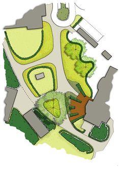 Landscape design by Vollmer & Partners for the tea garden at care estate Midgard