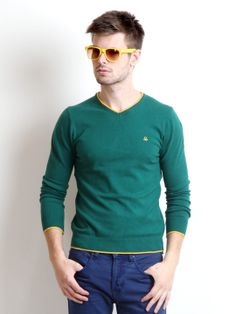 United Colors of Benetton Men Green Sweater