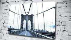 Brooklyn Bridge Blue city canvas from only £14.99 at Canvas Art Print http://www.canvasartprint.co.uk/products/BROOKLYN-BRIDGE-BLUE-438650.aspx