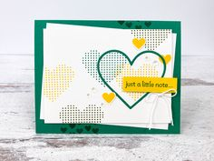 Stampin Up - Lots of Hearts Valentine - Video - Post By Demonstrator Brandy Cox St Patricks Day Cards, Arts And Crafts, Paper Crafts, Title Card, Heart Frame, Photo Heart, Small Heart, Stampin Up Cards, Valentines