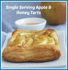 Single serving apple and honey tart. Perfect for Rosh Hashanah, but also great for anyone who loves quick & delicious desserts.