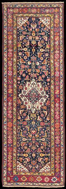 """Antique Karabagh Rug Size: 3' 10"""" x 11' 8"""""""