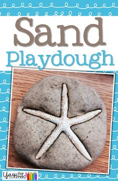 Sand Playdough recipe for toddlers and early elementary!