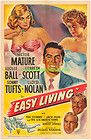 EASY LIVING MOVIE POSTER 27x41 Folded ONE SHEET 1949 LUCILLE BALL VICTOR MATURE - 1949, 27x41, Ball, EASY, Folded, LIVING, LUCILLE, MATURE, Movie, Poster, sheet, VICTOR