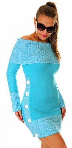 $23.49 awesome Glamour Empire Women's Exposed Arms Knitted Dress