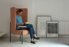The Ara armchair, designed by PerezOchando for Missana, gives you the comfort and privacy you need to communicate with someone when you're doing so via a computer, phone, or tablet.