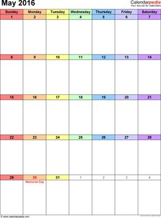 April  Calendar As A GraphicImage File In Png Format