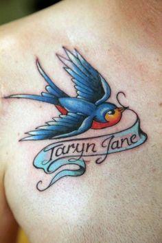 Bird Tattoos, Designs And Ideas : Page 50 Band Tattoos, Ribbon Tattoos, Mom Tattoos, Body Art Tattoos, Small Tattoos, Tattoos For Guys, Tattoos For Women, Tattoo Art, Tatoos