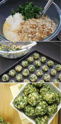 Spinach Balls   17 Easy, Healthy & Delicious Elegant Appetizers For Thanksgiving Celebration - Homemade Recipes by Pioneer Settler at http://pioneersettler.com/healthy-appetizer-ideas-thanksgiving-recipes/