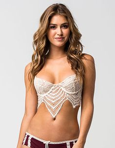 It's just as important your underwear makes you look and feel as good as your outerwear does! Get sexy, comfy & cute underwear & lingerie at Tillys. Bra Lingerie, Women Lingerie, Blue Corset, Cute Underwear, Pullover Designs, Crop Top Bikini, Scalloped Lace, Lace Bralette, Girl Fashion