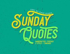"Check out new work on my @Behance portfolio: ""Sunday Quote's - 3 Style Fonts"" http://be.net/gallery/43679765/Sunday-Quotes-3-Style-Fonts"