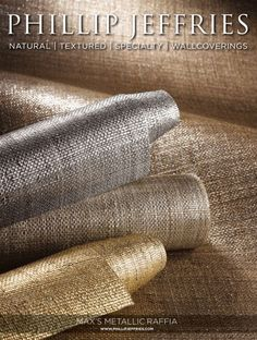 Phillip Jeffries Wallpaper Collection - Metallic Raffia