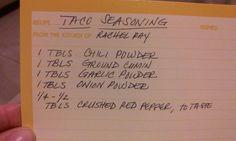 Rachel Ray Taco seasoning