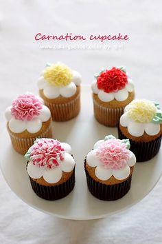 카네이션데코 컵케익(딸기쨈 컵케익)