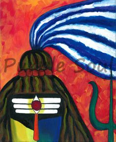 Lord Shiva Ganga Jatadhar by PurpleSoulArt on Etsy, $230.00