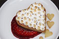 Raspberry Meringue Heart Tarts