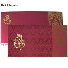 Scroll Wedding Invitations, Indian Wedding Invitation Cards, Creative Wedding Invitations, Wedding Invitation Suite, Invites, Wedding Card Design Indian, Hindu Wedding Cards, Marriage Cards, Decoration For Ganpati