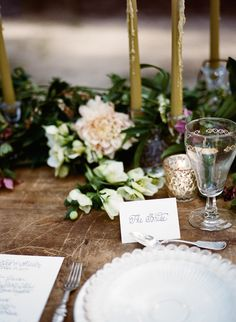 Elegant Organic Southern Bridal Inspiration | Wedding Sparrow - Stacy Bauer Photography