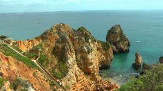 PORTUGAL: spectacular coast of southwest Algarve (HD-video)