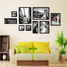 Hardcover black-and-white photo wall decorative box art painting $115.00