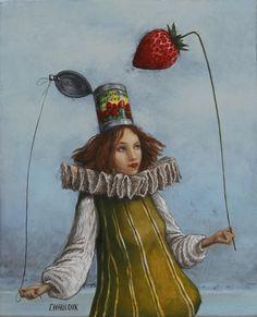 Catherine Chauloux   -   La fraise dans le chapeau