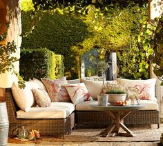 Torrey All-Weather Wicker Sectional Set | Pottery Barn