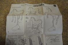 Vintage 1970 Mattel Barbie Horse Dancer Instructions / Assembly Free Shipping