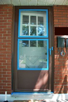 Rescue That Ugly But Custom Sized Storm Door Scrub It